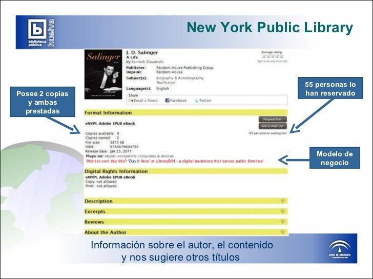 New York Public Library Información sobre el autor, el contenido y nos sugiere otros títulos  55 personas lo han reservado...