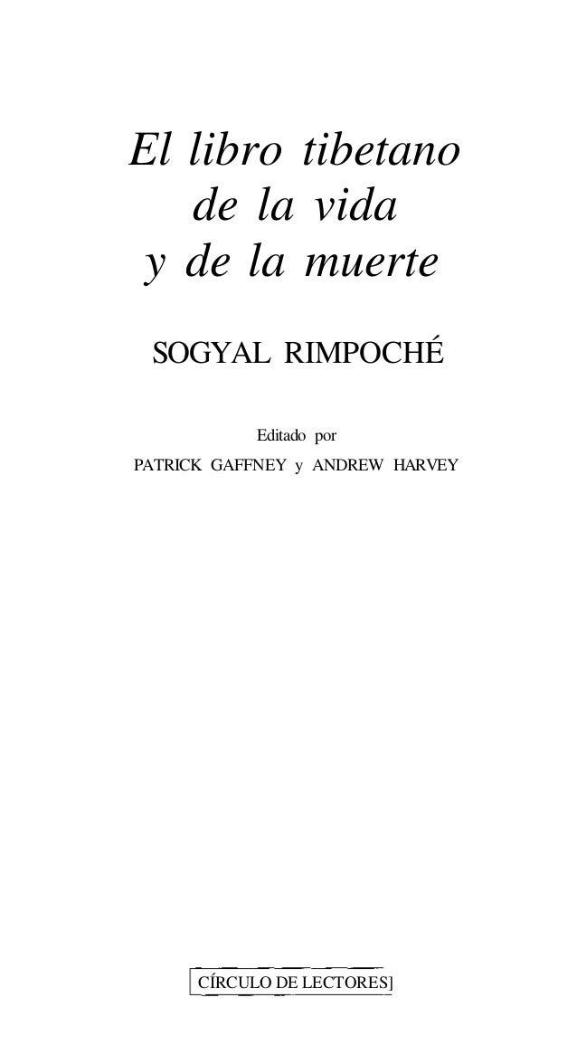 El libro tibetano de la vida y la muerte (sogyal rimpoche)