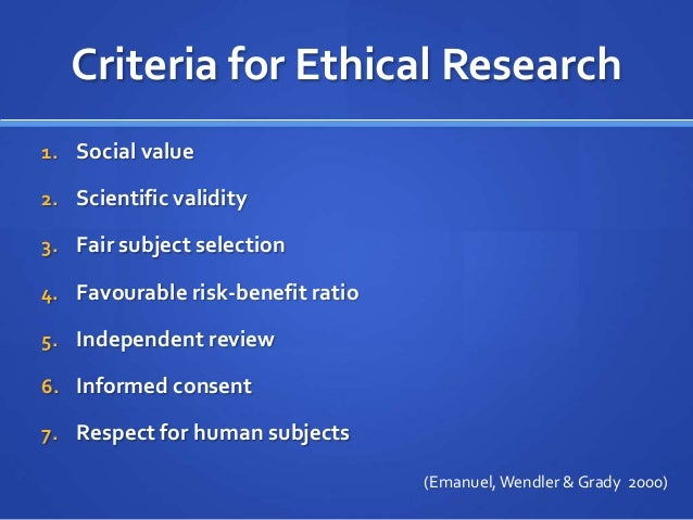 ethical issues in research using human subjects The regulatory system controlling ethical aspects in research involving human subjects in brazil is undergoing a review process in which the human and social science research associations are seeking regulation compatible with the methods and practices of these sciences this article reviews key aspects of this process.