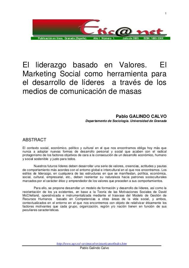 Publicación en línea. Granada (España). Año I Número 1. Julio de 2003. ISSN: 1695-324X http://www.ugr.es/~sevimeco/revista...
