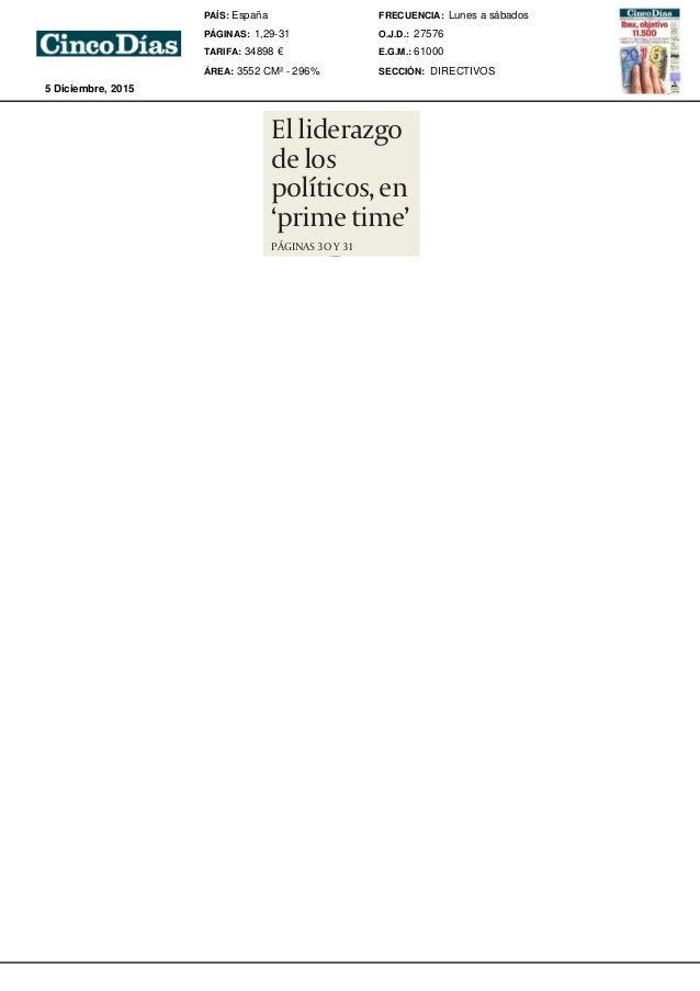 """Elliderazgo delos políticos,en 'primetime' PÁGINAS 3O Y 31 DIRECTIVOSDIRECTIVOS 33 CHRISFOIO:""""Reebok quieresermarcade refe..."""