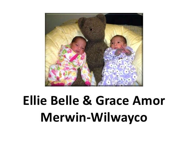 The Newborn Twins<br />Ellie Belle & Grace Amor<br />Merwin-Wilwayco<br />