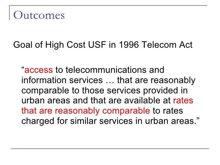 Telecommunications Act of 1996 Impact