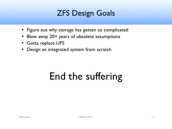 Zfs tutorial lisa 2011 for Zfs pool design