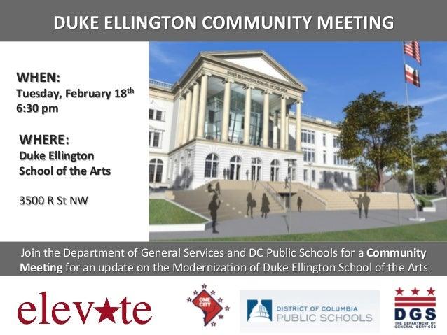 DUKE  ELLINGTON  COMMUNITY  MEETING                     WHEN:             ...