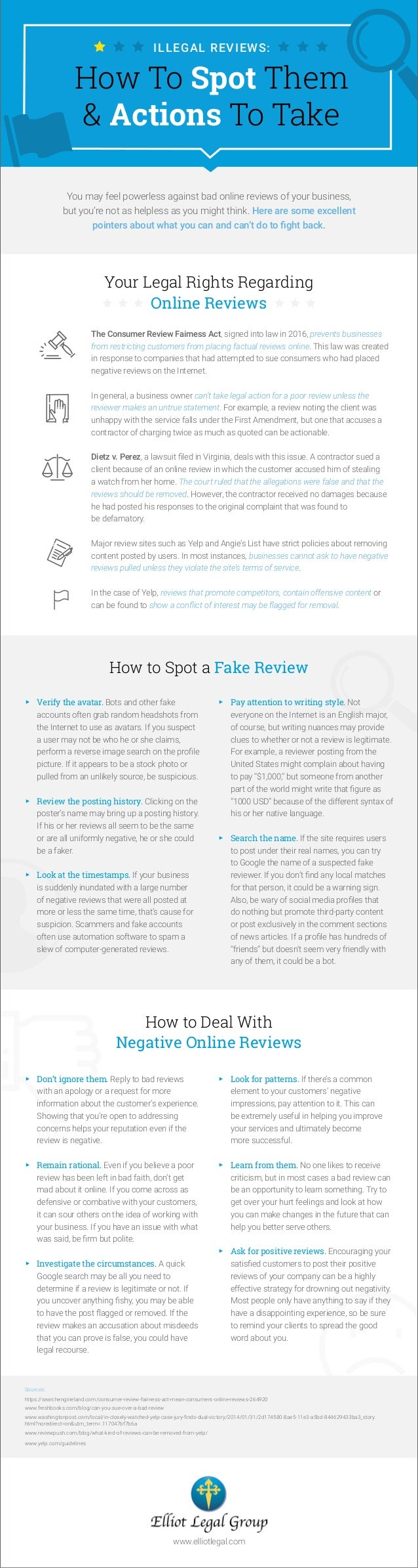 ILLEGAL REVIEWS: How To Spot Them & Actions To Take Your Legal Rights Regarding Online Reviews The Consumer Review Fairnes...