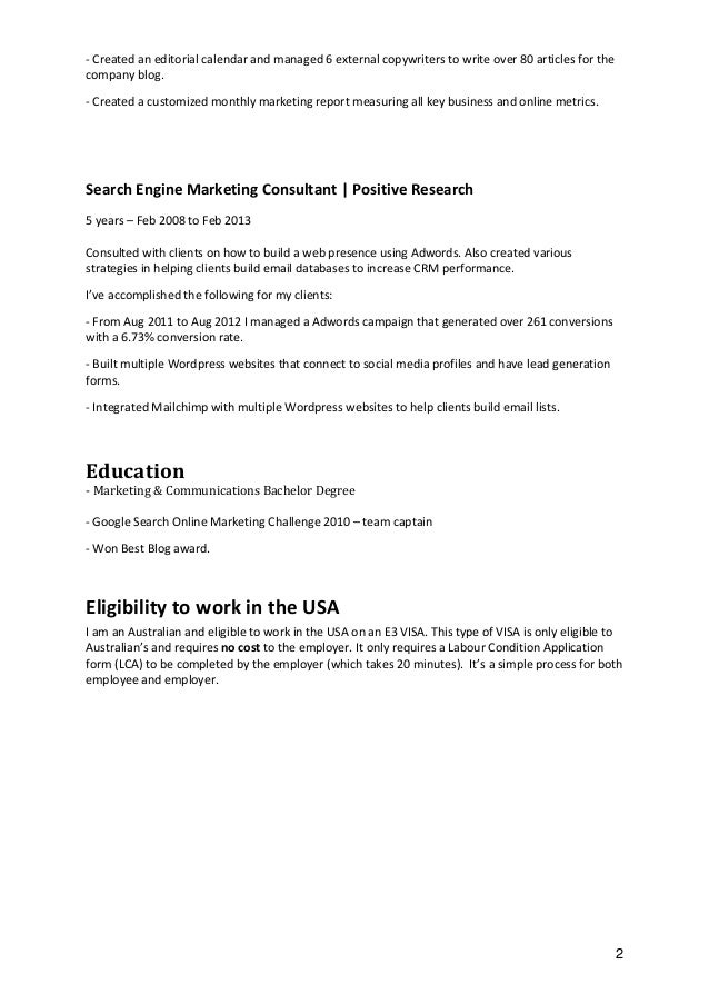crm resume
