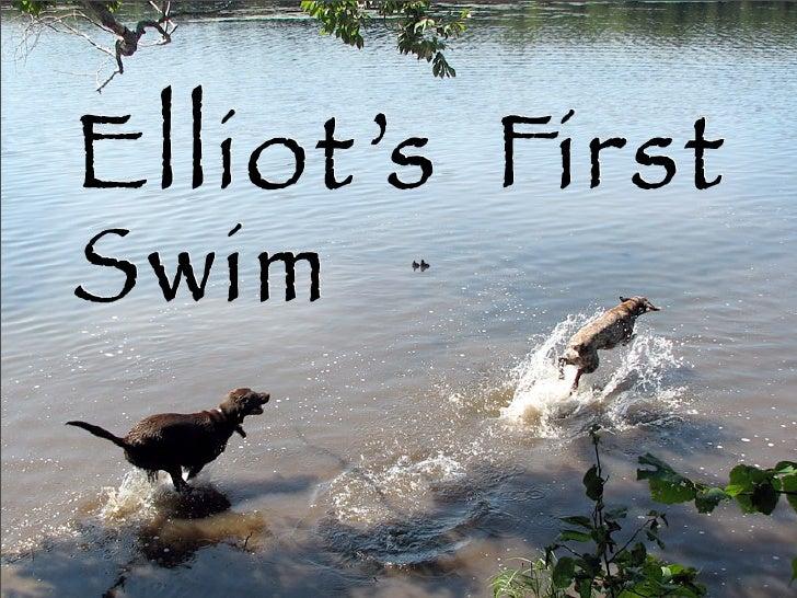 Elliot's First Swim