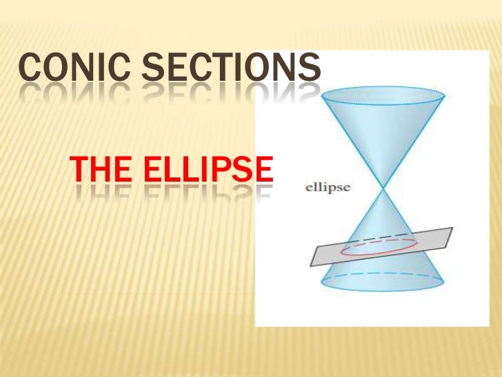 CONIC SECTIONS  THE ELLIPSE