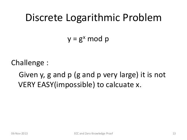 Discrete logarithms in cryptography degree
