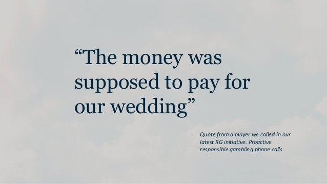 """""""The money was supposed to pay for our wedding"""" - Quote from a player we called in our latest RG initiative. Proactive res..."""