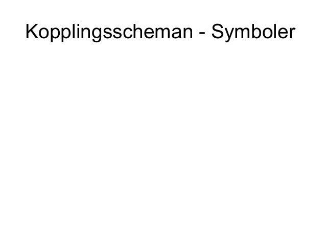Kopplingsscheman - Symboler