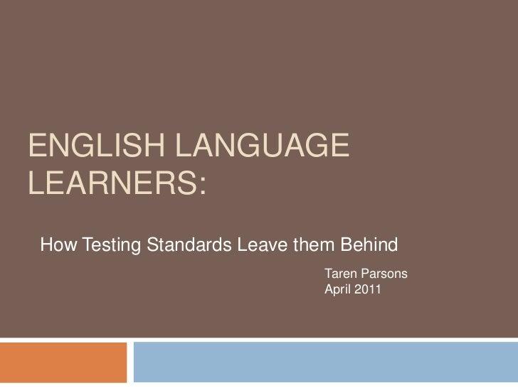 English Language Learners and NCLB testing