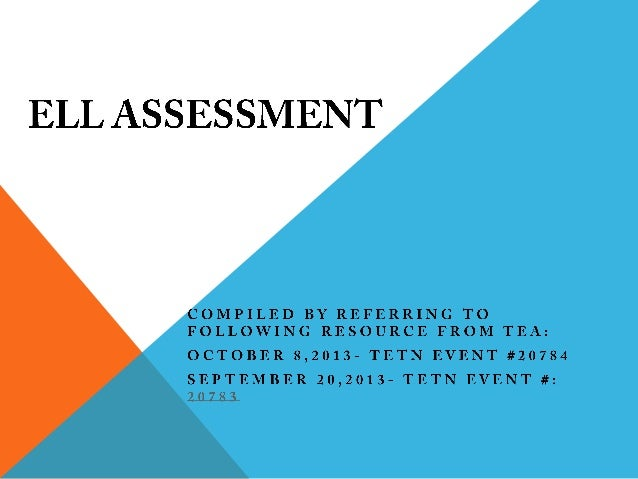 OVERVIEW OF ASSESSMENT TYPES