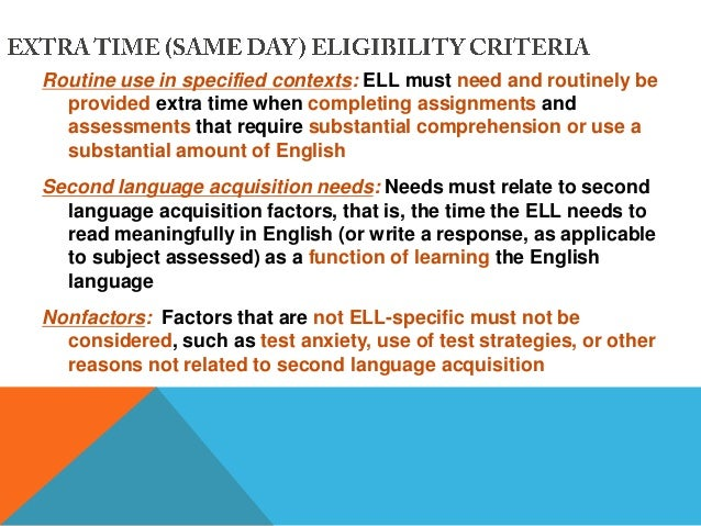 ell placement assessment Of a performance assessment approach for ell students are discussed, along  performance assessments for english language learners 1 performance assessments.
