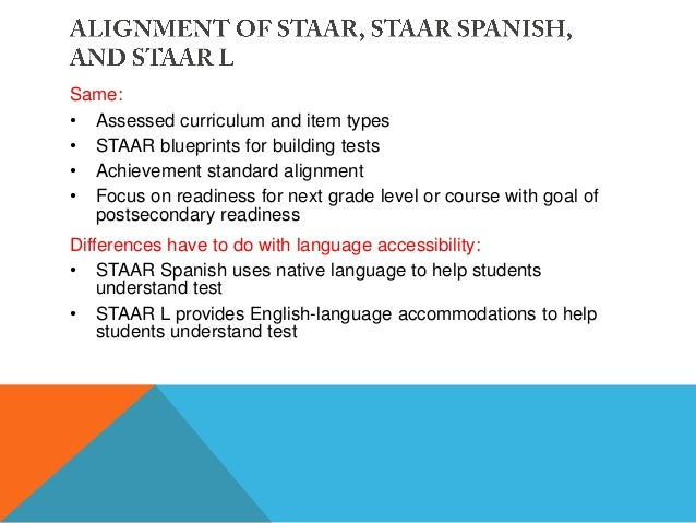 Ell state assessment options and allowable linguistic accommodations staar malvernweather Images