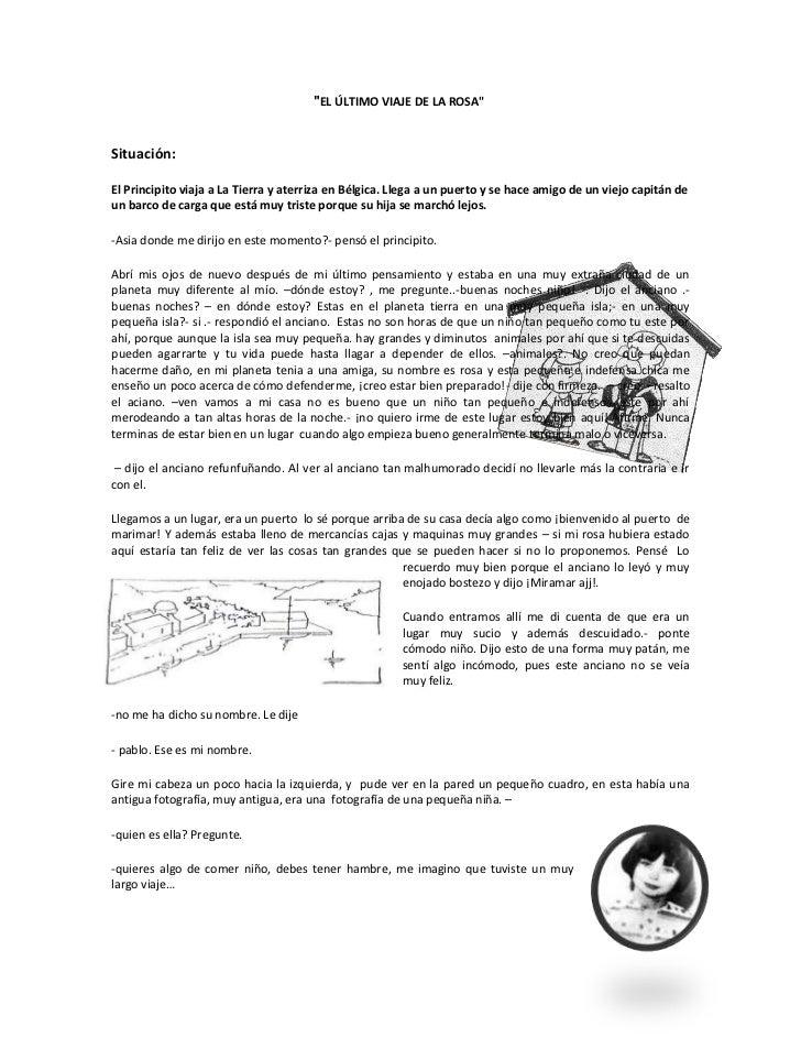 """""""EL ÚL TIMO VIAJE DE LA ROSA""""<br />Situación:<br />El Principito viaja a La Tierra y aterriza en Bélgica. Llega a un puer..."""