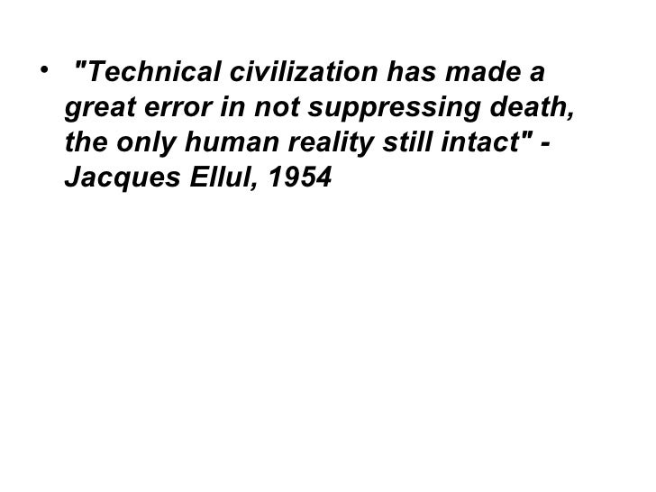 jacques ellul technological society pdf