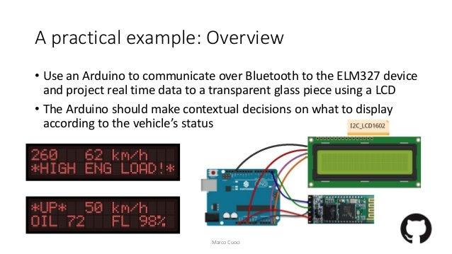 Elm327 obd II - Arduino HUD