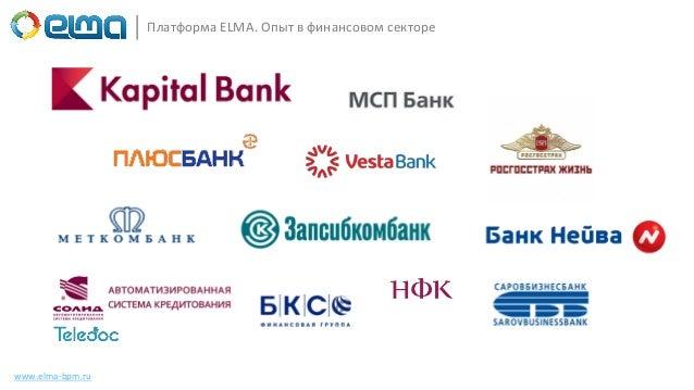 www.elma-bpm.ru Платформа ELMA. Опыт в финансовом секторе