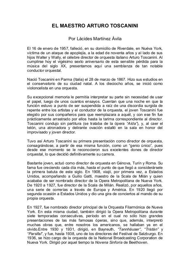 (PDF) Arturo Toscanini at NBC - ResearchGate
