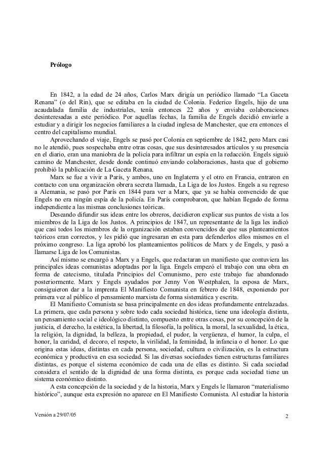 """Prólogo  En 1842, a la edad de 24 años, Carlos Marx dirigía un periódico llamado """"La Gaceta  Renana"""" (o del Rin), que se e..."""