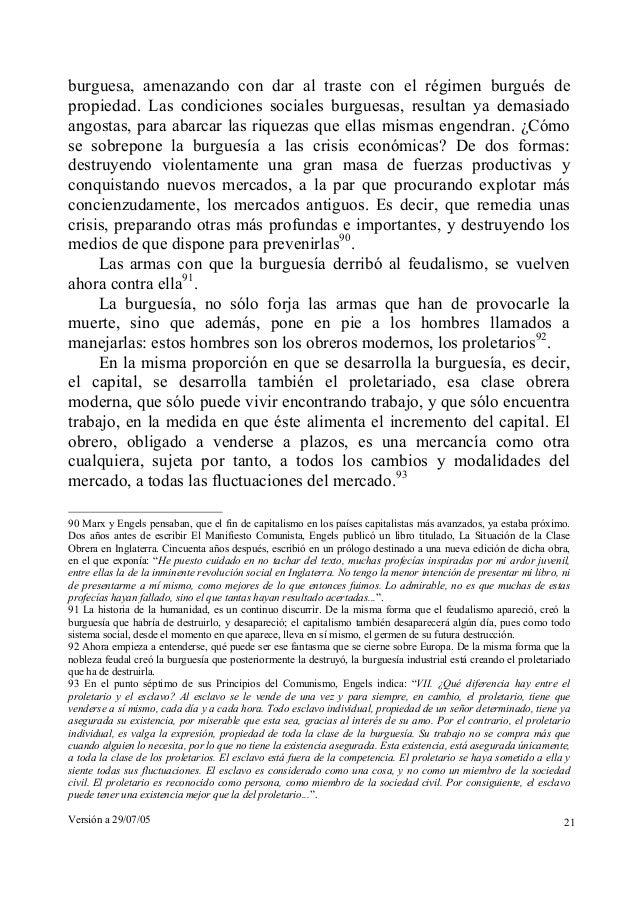 burguesa, amenazando con dar al traste con el régimen burgués de  propiedad. Las condiciones sociales burguesas, resultan ...