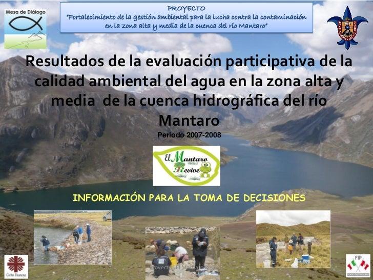 """PROYECTO     """"Fortalecimiento de la gestión ambiental para la lucha contra la contaminación                  en la zona al..."""