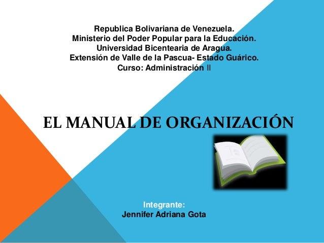 Metodología para la elaboración de manuales de procedimientos.