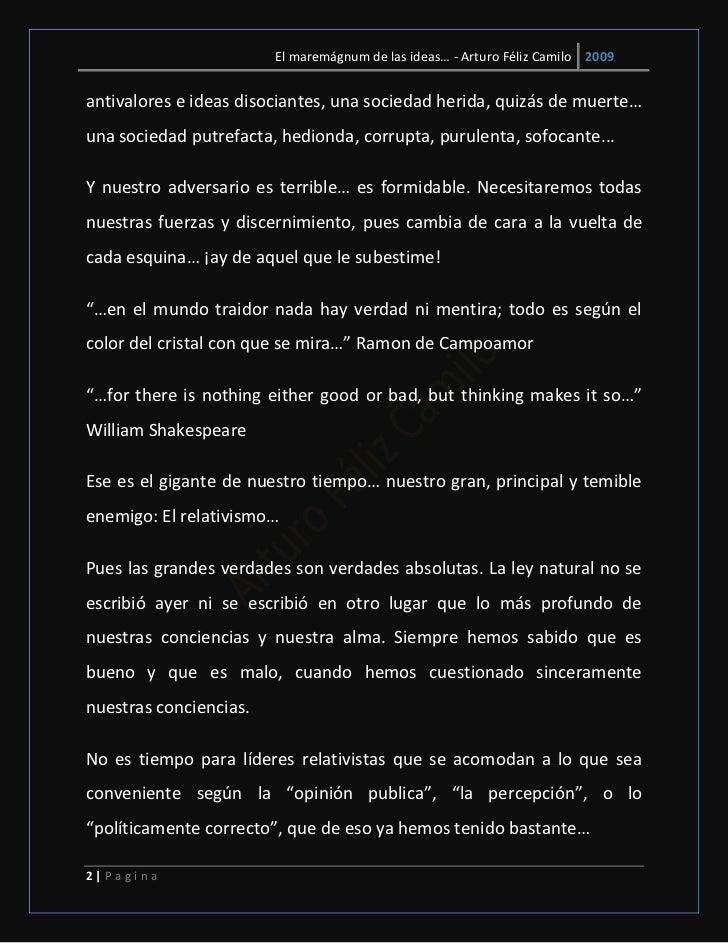 El maremágnum de las ideas… - Arturo Féliz Camilo 2009antivalores e ideas disociantes, una sociedad herida, quizás de muer...
