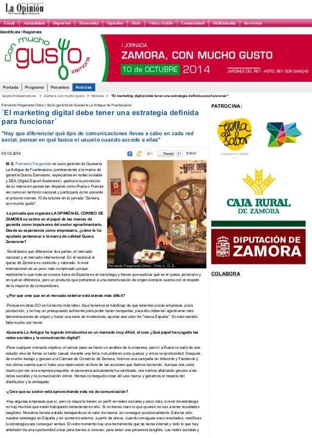 Portada Programa Ponentes Noticias Fernando Fregeneda Chico. . Foto: L. O. Z.. Fernando Fregeneda Chico | Socio gerente de...