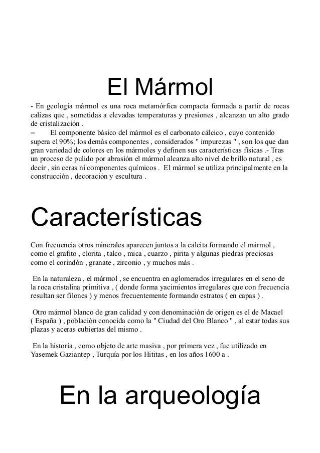 El marmol for Concepto de marmol
