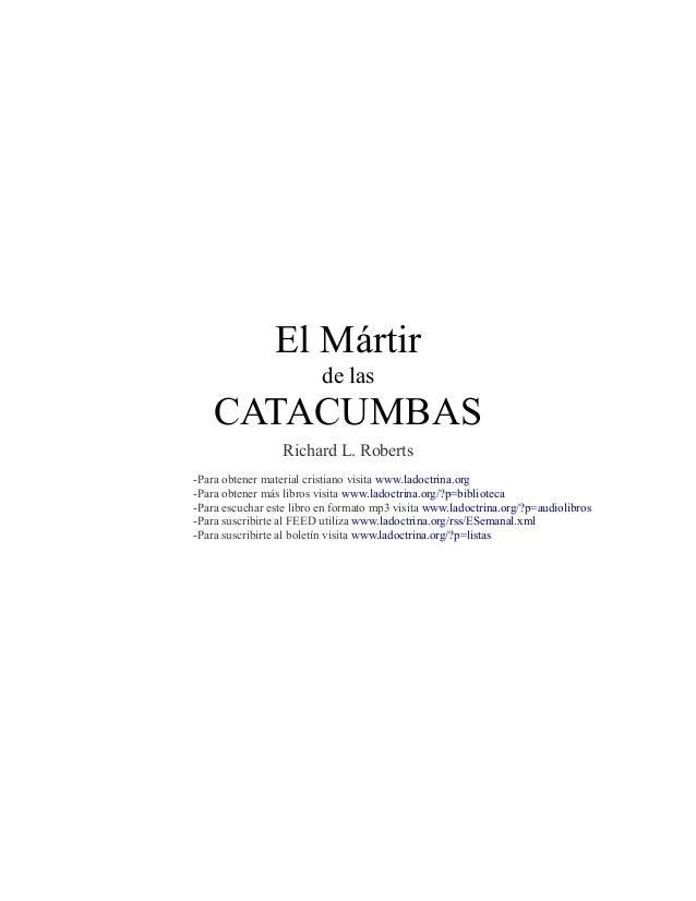 El martir de las catacumbas download google