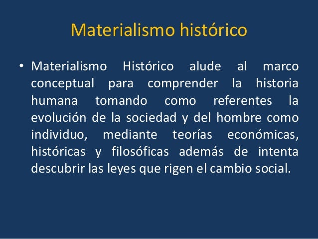 Materialismo Histórico Funcionalismo Estructuralismo