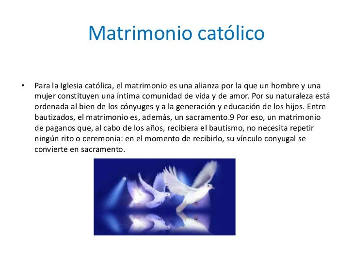 Matrimonio Católico Translation : El matrimonio