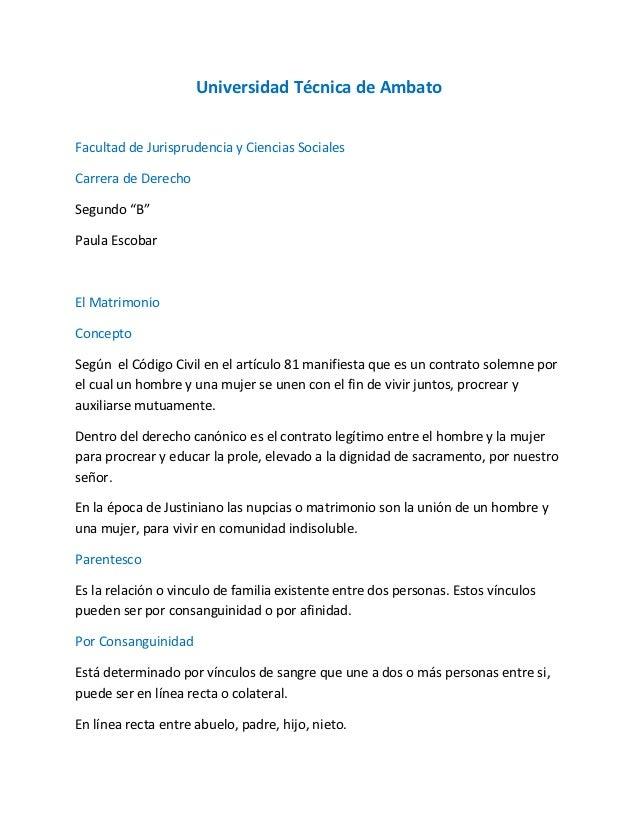 """Universidad Técnica de AmbatoFacultad de Jurisprudencia y Ciencias SocialesCarrera de DerechoSegundo """"B""""Paula EscobarEl Ma..."""