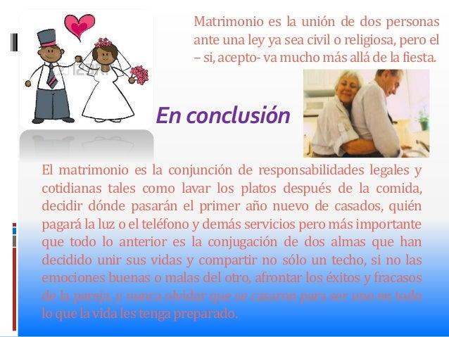 Matrimonio Romano Conclusion : El matrimonio