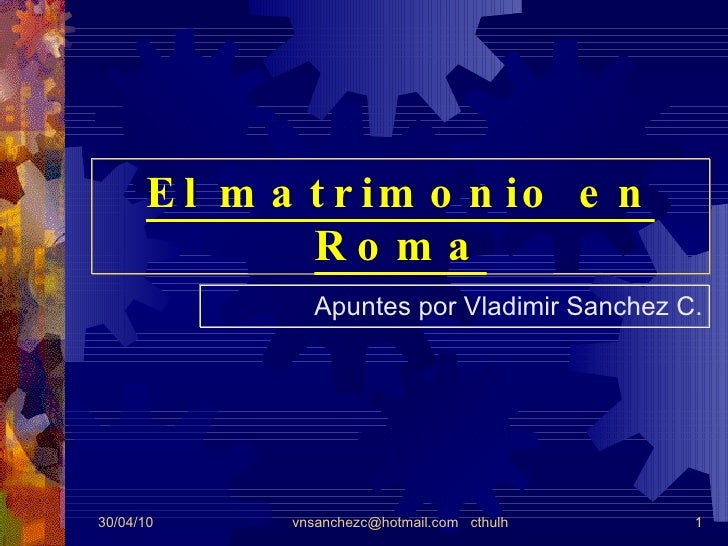 Matrimonio Romano Trabajo Monografico : El matrimonio en roma