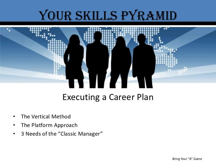 """Your Skills Pyramid<br />Executing a Career Plan<br />The Vertical Method<br />The Platform Approach<br />3 Needs of the """"..."""