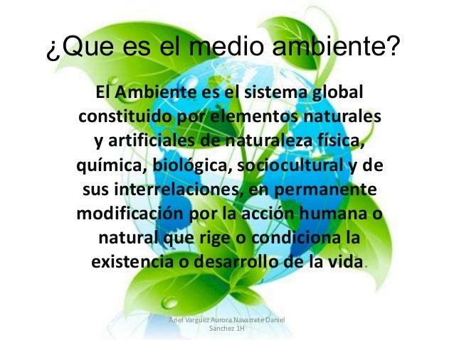 El Medio Ambiente: Para Ti Que Es El Medio Ambiente ?