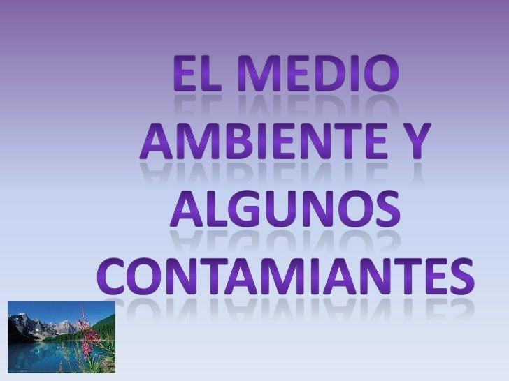 EL MEDIO AMBIENTE Y<br />ALGUNOS <br />CONTAMIANTES<br />