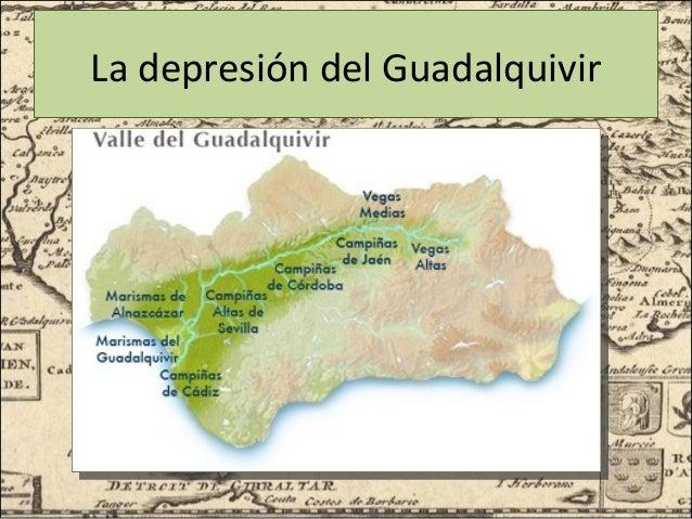 Marismas Del Guadalquivir Mapa.El Medio Fisico De Andalucia 3 Eso