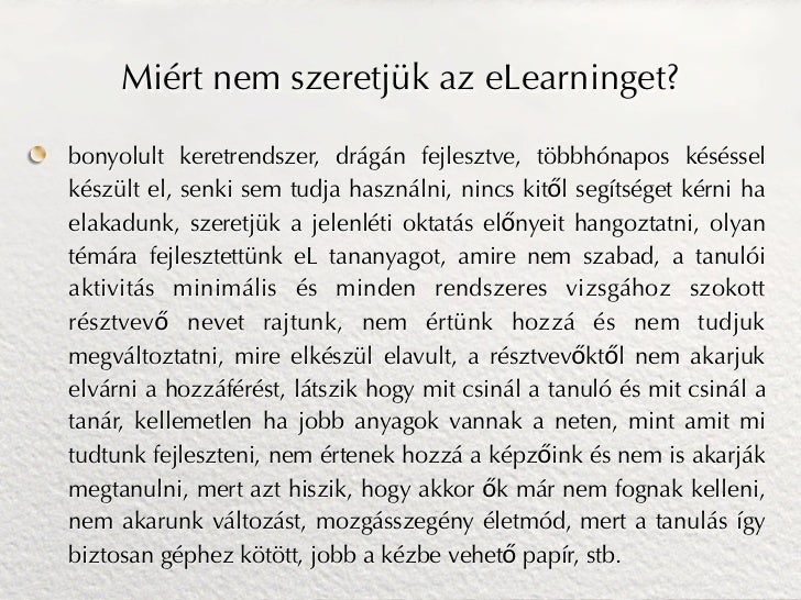 E-learning megoldások Slide 3