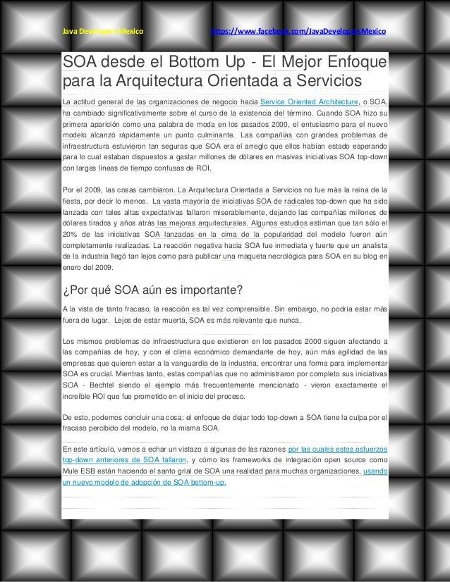 El mejor enfoque para una arquitectura orientada a servicios Arquitectura orientada a servicios