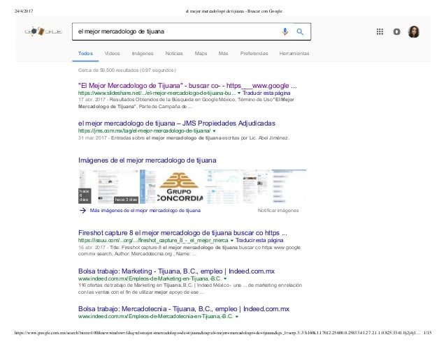 24/4/2017 el mejor mercadologo de tijuana - Buscar con Google https://www.google.com.mx/search?num=100&newwindow=1&q=el+me...