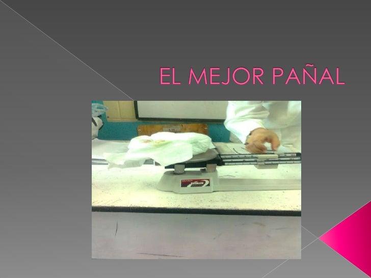 EL MEJOR PAÑAL<br />