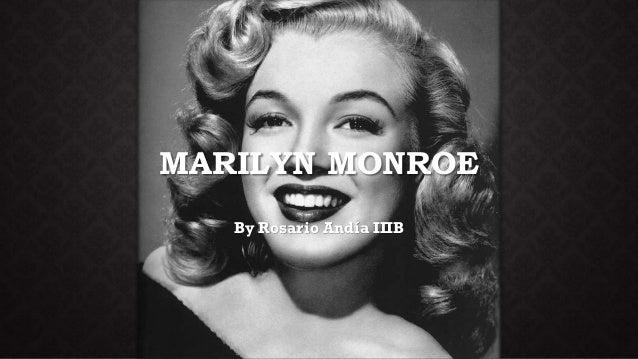 MARILYN MONROE By Rosario Andía IIIB