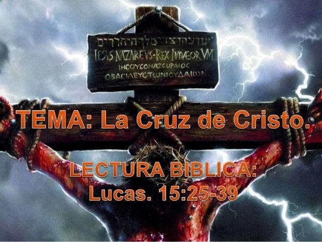 El mensaje de la cruz (por carlos j rondón)