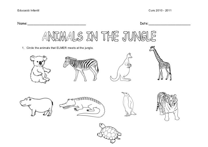Elmer Worksheets