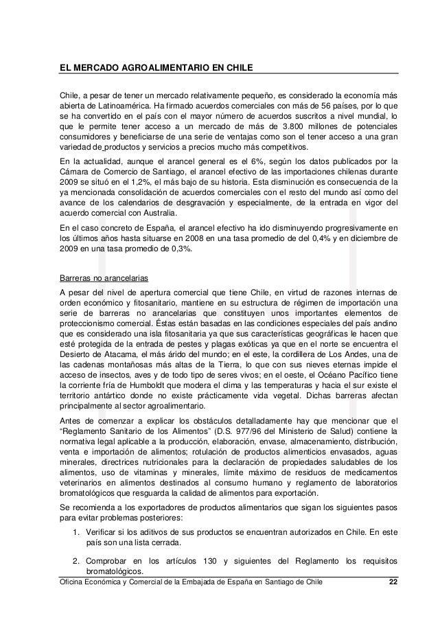 El mercado alimentario en chile 2010 for Oficina consumo santiago